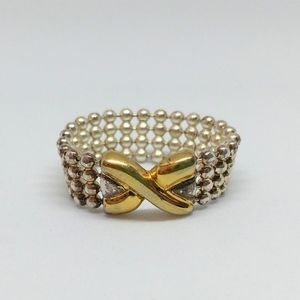 Sterling Silver Flexible Gold Ring